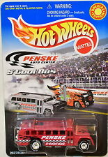 HOT WHEELS PENSKE AUTO CENTER S'COOL BUS RED
