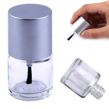 10ml Empty Nail Polish Clear Glass Bottle Storage Container with Silver Cap JSJ