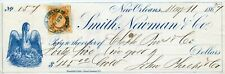 Fabulous  New Orleans  bank check  1867