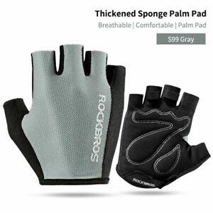 ROCKBROS Gray Size M Bike Half Finger Breathable Gloves Summer Sports Gloves