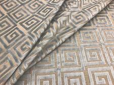 Lee Jofa Greek Key Upholstery Fabric- Athenee Velvet / Grey 3.75 yd 2014116.11
