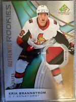 Erik Brannstrom Senators SP Game Used 2019-20 Patch Card 25/65