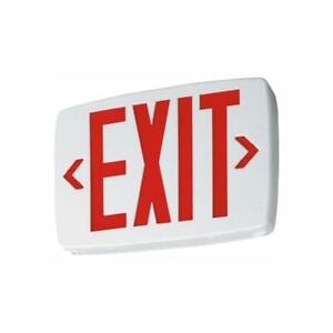 Emergency Exit Sign Quantum Thermoplastic White Integrated LED Commercial Office