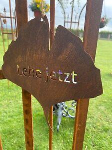 Schild Spruchtafe Gartenschild Edelrost Rost zum Hängen Tafel Lebe Jetzt  Tür