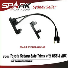 CP 2 DIN Side Trims Brackets Facia Dash With USB & AUX For Toyota Celica Corolla