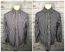 Lacoste Mens 44 XL Lot Of 2 Striped Button Front Shirts