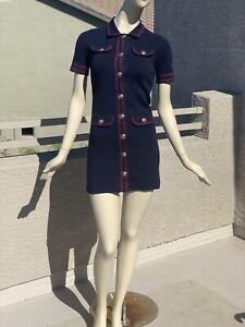 Maje Contrast-Stitch Knit Dress