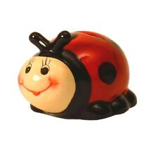 "German,Germany,Hand Painted,4 3/4""x4""x4""Ceramic.Good Luck Ladybug.Piggy Bank"