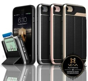 For Apple iPhone 8 7 Vena【vCommute】Leather Wallet Card Holder Stand Case Cover