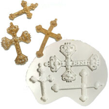 Cross Silicone Fondant Mould Cake Decoration Baking Topper Mold Chocolate Tool