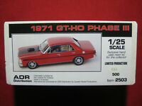 1971 Ford Falcon XY GTHO Phase III Aussie Made 1/25 Kit Rare Muscle Car GT-HO 3