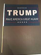 Lot 4 Trump 12x18 Inch Stick Flag 2016 Make America Great Again Donald President