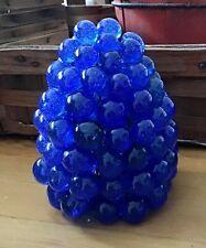 Vintage Czech Grape Lamp Shade Art Glass Rich Cobalt Blue