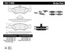 Disc Brake Pad Set-C-TEK Metallic Brake Pads-Preferred Front,Rear Centric