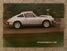 1975 Porsche 911 S & Carrera Showroom Sales Folder / Brochure RARE! Awesome L@@K