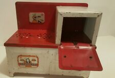 Old Child's Toy Pretty Maid Metal Cook Stove