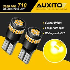 Auxito T10 168 194 2825 Amber Led License Plate Side Marker Light Bulb Canbus