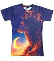 Wolf Cloud T-Shirt ( wolves tie dye all over print colourful printed spirit )