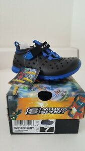Skechers Hidrozooms Black/Royal Boy Shoes Size 7