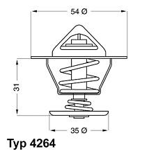 Thermostat Kühlmittel - Wahler 4264.87D