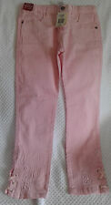 SZ 7 OSH KOSH PINK DESIGNER EMBROIDERED LACEUP JEANS BRAND NEW WITH TAGS