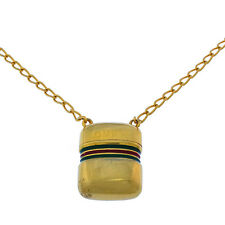 Gucci Necklace Pendant Gold Green Woman Authentic Used Y2130