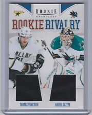 11-12 2011-12 ROOKIE ANTHOLOGY VINCOUR SATERI ROOKIE RIVALRY DUAL JERSEY 33