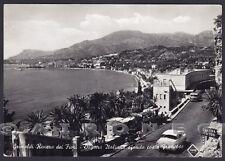 IMPERIA VENTIMIGLIA 65 GRIMALDI CONFINE DOGANA Cartolina FOTOGRAFICA viagg. 1954