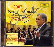 Zubin MEHTA Signiert 2007 New Year's Concert Vienna 2CD Neujahrskonzert aus Wien