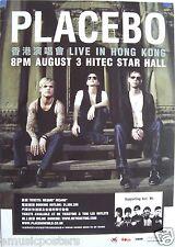 PLACEBO HONG KONG 2009 CONCERT TOUR POSTER - U.K. Alternative Rock Music