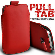 LEATHER PULL TAB SKIN CASE COVER POUCH FOR VARIOUS SONY ERICSSON MOBILE