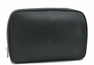 Auth Louis Vuitton Taiga Trousse Toilette GM Clutch Bag Green M30214 LV D7871