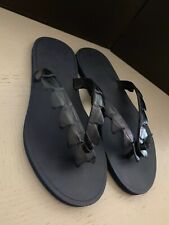 NIB $620 Bottega Veneta Men Crocodile Flip Flop Sandal Shoes DK Navy 8 US