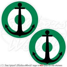 "NIGERIA Marina Militare Nigeriana Natale Tondo MOD Adesivi 75mm (3"") Stickers x2"
