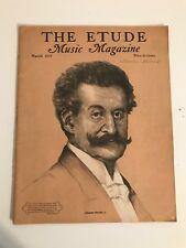 Vintage The Etude Music Magazine March 1937 Carl Maria Von Weber