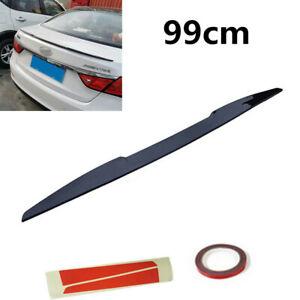 99CM PU Glossy Black Car Spoiler/Roof/Hatch Gate/Trunk/Bonnet Rear Wing Sticker