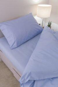 Sky Blue 68 Pick Polycotton Bed Linen
