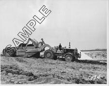 EUCLID 3-AXLE SCRAPER 14TDT-21SH, France Stone Quarry OHIO 1953 8x10 B&W Photo