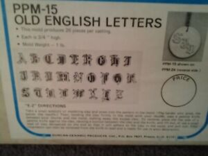 1963 TIMELESS OLD ENGLISH LETTERS PRESS DUNCAN PRESS MOLD # 15