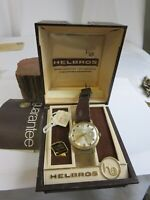Vintage 1970's Men's Helbros Invincible W Germany Wrist Watch Runs w/Box 34RP6