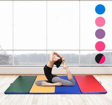 HOMCOM Tapis de yoga gym fitness pliable 305 x 120 x 5cm