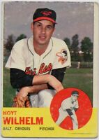 1963 Topps #108 Hoyt Wilhelm VG Baltimore Orioles Hall of Fame FREE SHIPPING