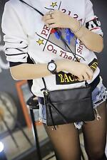Bolso pequeño bolso pequeño con cremallera Messager bolsas negras