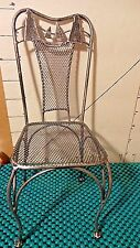 """Chair,9"""", Toy, Metal & Mesh, Lighthouse Theme, Doll Furniture, Crafts"""