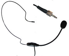 Dual Ear Head Headset Mic Headworn Microphone for Sennheiser Wireless Mic System