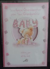 "GREETINGS CARD - ""TO A SPECIAL GRANDDAUGHTER FROM YOUR GRANDPARENTS"" - BABY"