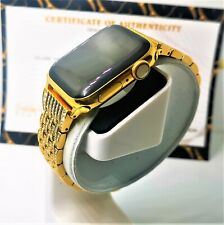 24k Gold Plated 40MM Apple Watch Series 4 Links Band with Diamond Rhinestones