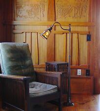 Handel palm landscape floor/table lamp,mission,arts and crafts