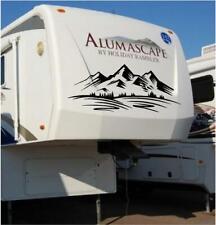 Mountains Decal Vinyl Graphic Custom Sticker Camper RV Trailer Truck