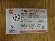 15/03/2000 BIGLIETTO: Manchester United v FIORENTINA [UEFA CHAMPIONS LEAGUE]. rispetto a